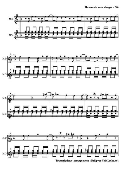 Partition flute je te ...1 2 3 Goldman Guitare